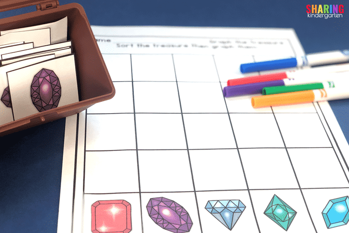 Gem Graphing with a treasure chest theme