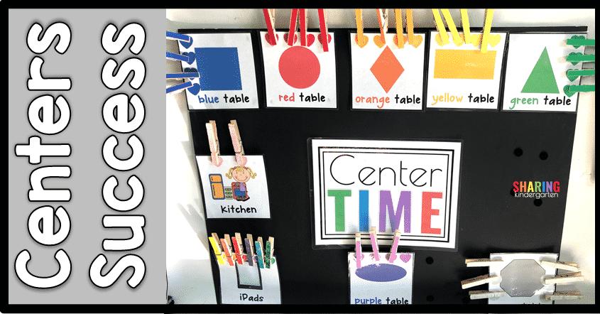 Center Ideas in Kindergarten