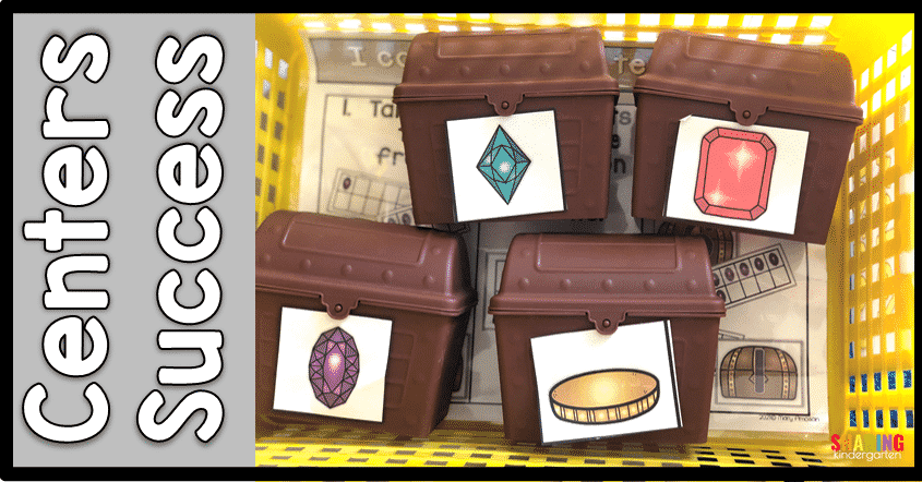 Math center ideas in Kindergarten using treasure chest