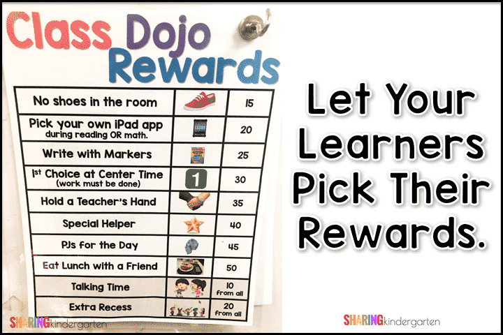 Let your learners pick their rewards!