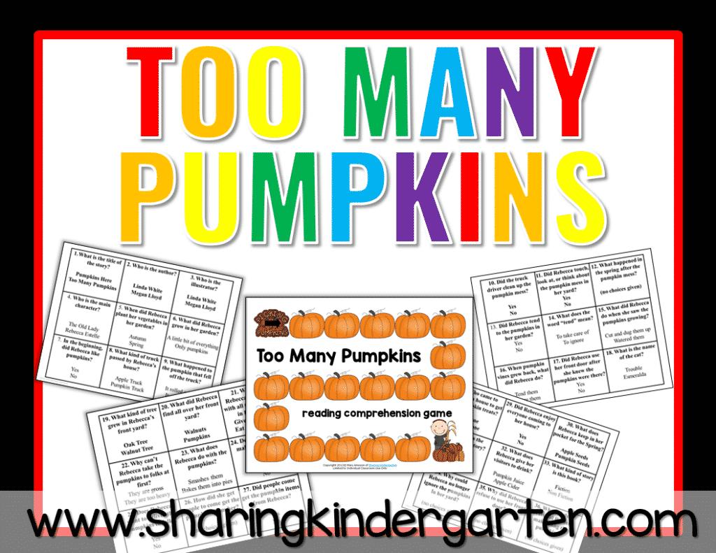 Too Many Pumpkins Reading Comprehension File