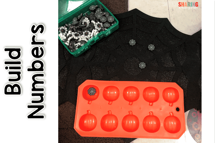 Build Numbers with pumpkin ten frames and erasers.